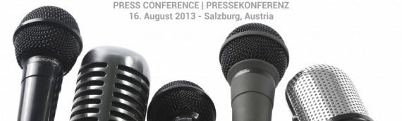 """Pressekonferenz """"Sänger in Gefahr"""". 16. August 2013"""